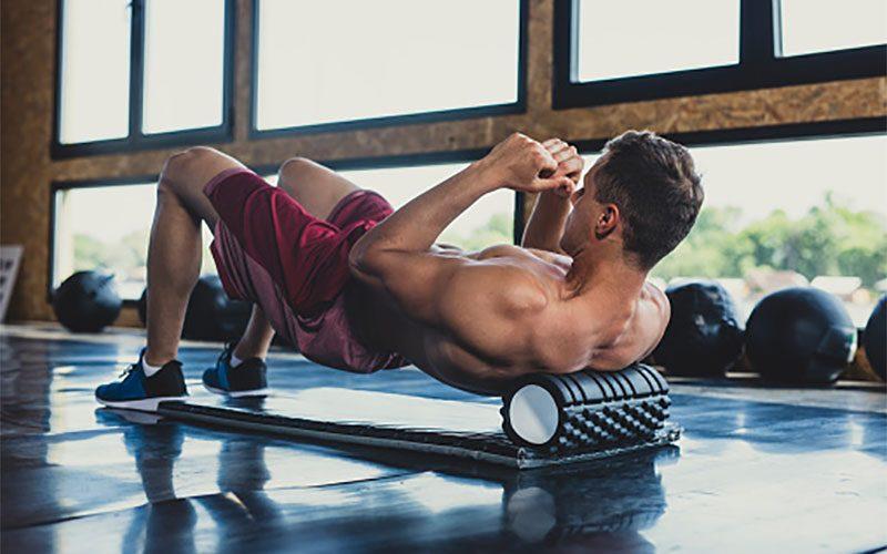 Estiramientos y liberación muscular y fascial con foam roller